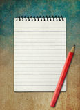 Blank notebook on watercolor abstract background Stock Photography