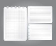 Blank notebooks Royalty Free Stock Images