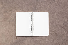 Blank notebooks on the cement floor. Stock Image