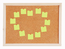 Blank noteframe on Cork board Royalty Free Stock Images