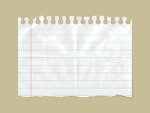 Blank notepad. Blank piece of paper on simple background Royalty Free Stock Photography
