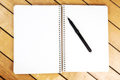 Blank notepad with black pen Stock Photography
