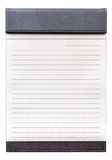 Blank notepad on the brown clipboard for memorandum. Royalty Free Stock Photo