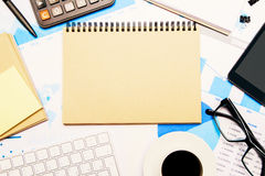 Blank notepad business report Stock Photography