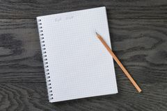 Blank notepad with chequered pages and phrase gift Royalty Free Stock Photos
