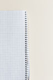 Blank notepad with clipping path on ivory table Stock Image