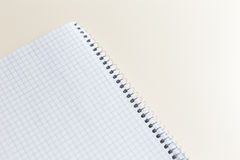 Blank notepad with clipping path on ivory table Royalty Free Stock Image