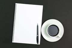 Blank notepad with coffee Royalty Free Stock Images