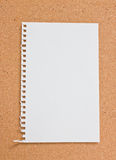 Blank notepad. Blank notepad on corkboard Royalty Free Stock Photography