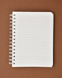 Blank notepad with lines Royalty Free Stock Photo