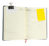 Blank notepad with notepaper on white Royalty Free Stock Photography