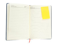 Blank notepad with notepaper  on white Stock Photos