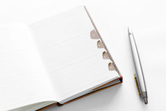 Blank Notepad Stock Photography