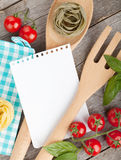 Blank notepad paper for your recipes and food Royalty Free Stock Photos