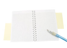 Blank notepad with pen Royalty Free Stock Images