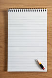 Blank notepad and pencil Stock Photos