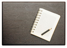 Blank notepad with pencil Royalty Free Stock Images