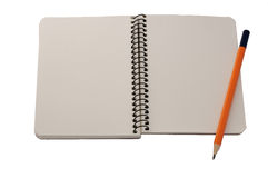 Blank notepad and a pencil Royalty Free Stock Image