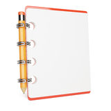 Blank notepad and pencil. On white. 3d rendered image Royalty Free Stock Image