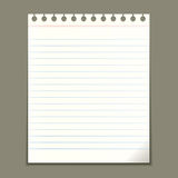 Blank notepad sheet Stock Photo