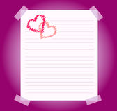 Blank notepad sheet of paper background Royalty Free Stock Photography