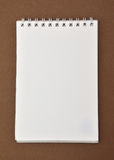 Blank notepad with spiral bound Royalty Free Stock Photos
