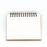 Blank notepad vintage style on withe background Royalty Free Stock Photography