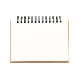 Blank notepad vintage style on withe background Royalty Free Stock Images