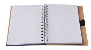 Blank notepad on white. Blank notepad made in recycled paper on white stock photography