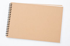 Blank Notepad On White Background Stock Photos