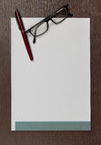 Blank notepad Royalty Free Stock Photo