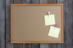 Blank notepad and wooden rabbit paper clip Stock Photography