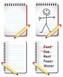 Blank Notepads With Pencils Stock Photography