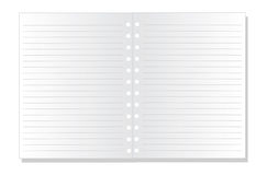 Blank notepaper. Blank white notepaper, vector illustration royalty free illustration