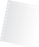 Blank notepaper Stock Photography