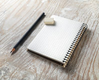 Blank notepaper with pencil Royalty Free Stock Image
