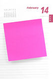 Blank notepaper and valentine's day Royalty Free Stock Photography