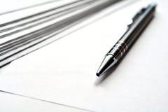 Blank noterar pappers- Fotografering för Bildbyråer