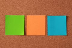 Blank Notes On Cork Board Stock Photos