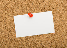 Blank notes on cork board Royalty Free Stock Photo