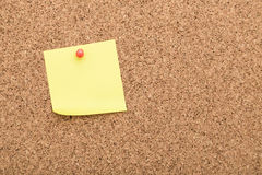 Blank notes on cork board Stock Photo