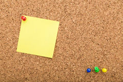 Blank notes on cork board Stock Photography