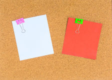 Blank notes on cork notice board Royalty Free Stock Photos