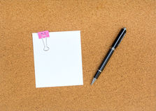 Blank notes on cork notice board Stock Photography