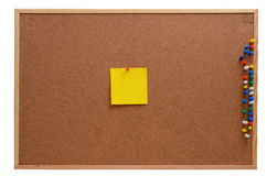 Blank notes pinned into corkboard Royalty Free Stock Photography