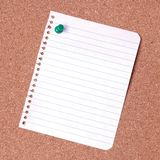Blank notice. On cork noticeboard ready for text to be added royalty free stock photography