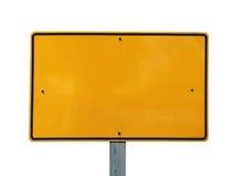 blank odbijającego szyldowego kolor żółty obrazy stock
