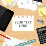 Blank office desk background with copy space for your text Stock Images