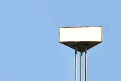 Blank old billboard for advertisement Royalty Free Stock Images