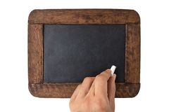 Blank old black board Royalty Free Stock Photography